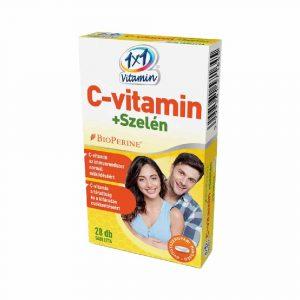 1X1 C-Vitamin+Szelén Bioperinnel 28+28 db