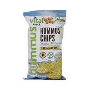Vital Hummus Chips Joghurt-Zöldfűszer Gluténmentes 65 g