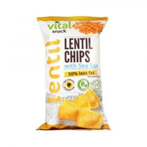 Vital Lencse Chips Tengeri Sós Gluténmentes 65 g