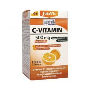Jutavit C-Vitamin 500 mg Rágótabletta 100 db