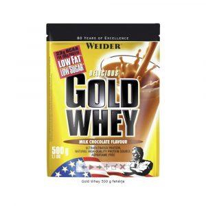 Weider Gold Whey Fehérjepor Tejcsoki 500 g