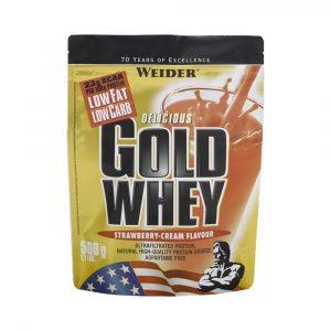 Weider Gold Whey Fehérjepor Eper-Tejszín 500 g