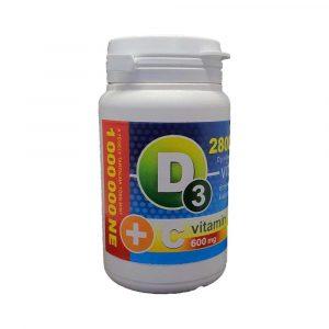 Vita Crystal D3-Vitamin 28000 ne+C-Vitamin Kapszula 36 db
