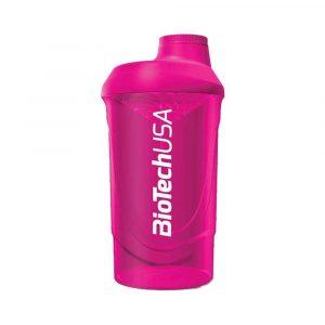 Biotech Keverőpalack Wave Magenta 600 ml