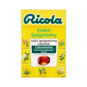 Ricola Cukor Eredeti Gyógynövény Cukormentes 40 g